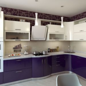 Фиолетовые кухни на заказ