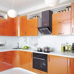 Оранжевые кухни на заказ