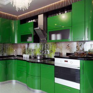 Зеленые кухни недорого в Москве